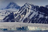 Glacier Backed by Snowy Mountains Photographic Print by  Eleanor