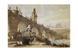 Toledo Bridge in Madrid Prints by David Roberts