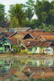 Rob - Traditional Homes and Situ Cangkuang Lake at This Village known for its Hindu Temple Fotografická reprodukce