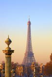 Eiffel Tower from Place De La Concorde, Paris, France, Europe Photographic Print by  Neil