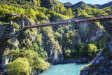 Aj Hackett Bungy Jumping on the Kawarau Bridge over the Kawarau River Near Queenstown Papier Photo par  Michael