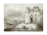 City Gate in Toledo Giclee Print by Jenaro Perez Villaamil