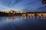Charles Bridge and the Castle District with St. Vitus Cathedral and Royal Palace Photographic Print by  Markus