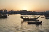 The Old Part of Doha and the Dhows Moored in the Harbour Photographic Print by  Matt