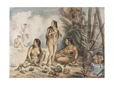 Indigenous Women in Cantagalo Prints by Jean Baptiste Debret