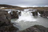 Landscape and Watefall, Iceland, Polar Regions Photographic Print by  Michael