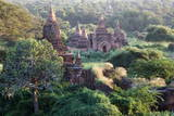 Ancient Temples at Sunset from Shwesandaw Pagoda, Bagan, Myanmar (Burma), Asia Photographic Print by  Lynn
