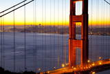 Golden Gate Bridge and San Francisco Skyline at Dawn Photographic Print by  Miles
