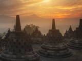 Borobudur Buddhist Temple, UNESCO World Heritage Site, Java, Indonesia, Southeast Asia Photographic Print by Angelo Cavalli