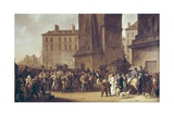 Conscripts of 1807 Marching Past the Gate of Saint-Denis Giclee Print by Louis Leopold Boilly