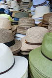 Hats for Sale, Market at Piazza Delle Erbe, Verona, Veneto, Italy, Europe Photographic Print by  Nico