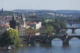 Bridges over the Vltava River, Prague, Czech Republic, Europe Photographic Print by  Angelo