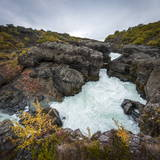 Barnafoss, Springs and Children's Falls, Iceland, Polar Regions Photographic Print by Michael Snell