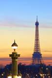 Eiffel Tower from Place De La Concorde, Paris, France, Europe. Photographic Print by  Neil