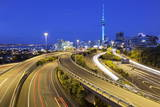 Sky Tower and Southern Motorway 1 Viewed from Hopetoun Street Photographic Print by  Stuart
