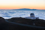Observatory on Mauna Kea at Sunset, Big Island, Hawaii, United States of America, Pacific Photographic Print by  Michael