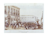 Acclamation of the King Pedro II, Brazil in 1939 Art by Jean Baptiste Debret
