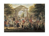 The Feast in the Botanical Garden Giclee Print by Luis Paret y Alcazar