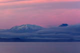 Lake Taupo with Mount Ruapehu and Mount Ngauruhoe at Dawn Fotografisk trykk av  Stuart