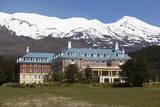 Chateau Tongariro Hotel and Mount Ruapehu Photographic Print by  Stuart