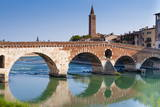 Ponte Pietra, Verona, River Adige, UNESCO World Heritage Site, Veneto, Italy, Europe Photographic Print by  Nico