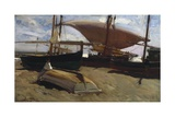 Boats on the Sand Poster by Joaquín Sorolla y Bastida