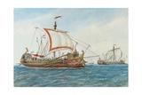 Greek Navy Prints by Rafael Monleon Y Torres