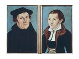 Luther and His Wife Katharina Von Bora Poster by Lucas Cranach the Elder