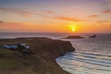 Rhossili Bay, Worms End, Gower, Wales, United Kingdom, Europe Photographic Print by  Billy