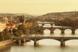 Bridges over the Vltava River Including Charles Bridge Photographic Print by  Markus