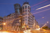 Dancing House (Ginger and Fred) by Frank Gehry, at Night, Prague, Czech Republic, Europe Photographic Print by  Angelo