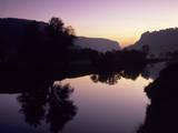 Schloss Werenwag Castle and Danube River at Sunset Fotodruck von Markus Lange