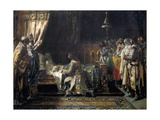 Last Moments of King James I Prints by Ignacio Pinazo camarlench