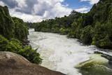 Nile Falls Near Jinja, Uganda, East Africa, Africa Fotografisk tryk af  Michael