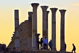 Tourists at Excavated Roman City of Volubilis Photographic Print by  Neil