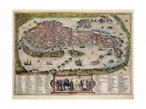 Map of Venice Giclee Print by Abraham Ortelius