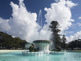 The Mission Bay Fountain, Auckland, North Island, New Zealand, Pacific Photographic Print by Nick Servian