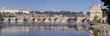 Panoramic View of the River Vltava with Charles Bridge and Castle District with Royal Palace Photographic Print by Markus Lange