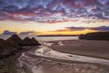 Three Cliffs Bay, Gower, Wales, United Kingdom, Europe Fotografie-Druck von  Billy