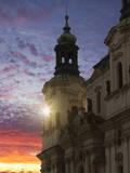 Sunset, Prague, Czech Republic, Europe Photographic Print by Angelo Cavalli