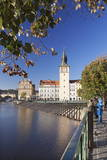 View over the River Vltava to Smetana Museum and Charles Bridge Photographic Print by  Markus