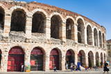 Interior of Roman Arena, Verona, UNESCO World Heritage Site, Veneto, Italy, Europe Photographic Print by  Nico
