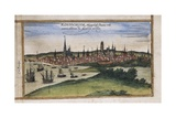 View of Rostock Prints by Abraham Ortelius