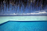 Infinity Pool and Lagoon, Maldives, Indian Ocean, Asia Photographic Print by  Sakis