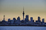 Skyline of Auckland, North Island, New Zealand, Pacific Photographic Print by  Michael