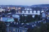 Vltava River with the Bridges Photographic Print by  Markus