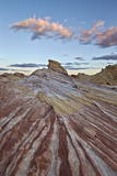 Red and White Sandstone Stripes at Sunrise Photographic Print by  James