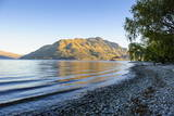 Late Afternoon Light over the Shores of Lake Wakatipu Photographic Print by  Michael