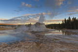 Castle Geyser at Sunset Photographic Print by  Eleanor