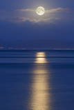Full Moon over the Mumbles, Swansea, Wales, United Kingdom, Europe Photographic Print by  Billy